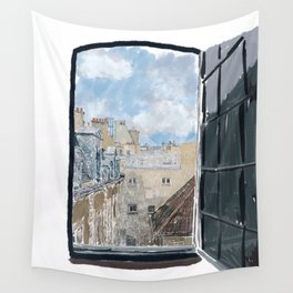 Sketch From a Window in Paris Wall Tapestry