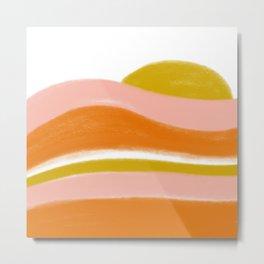 morning sunrise stripes Metal Print