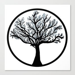 Tree in back and blue Canvas Print