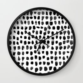 Watercolor Dots Wall Clock