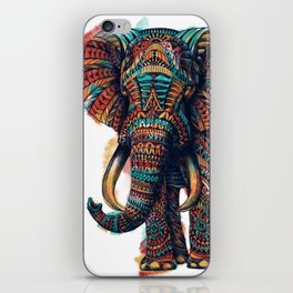 Ornate Elephant (Watercolor) iPhone Skin