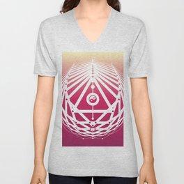 Radiant Abundance (sunrise-white) Unisex V-Neck