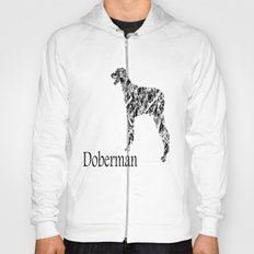 Doberman Scribble Hoody