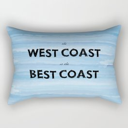 West Coast is the Best Coast - Ocean Watercolor - California Oregon Washington Pacific Love   Rectangular Pillow