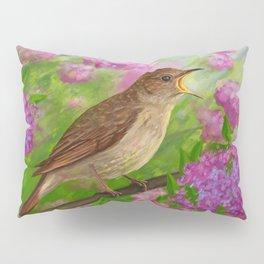 Spring nightingale Pillow Sham