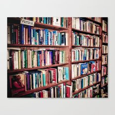 Library Shelves Canvas Print