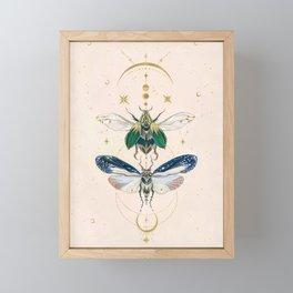 Moon insects Framed Mini Art Print