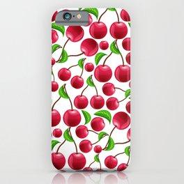 cherries pattern iPhone Case