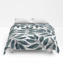 Modern autumn leaves image Comforters