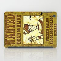 waldo iPad Cases featuring Where's Waldo Wanted Poster by Silvio Ledbetter