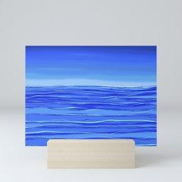 Always sea in the background ... Mini Art Print