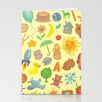 be happy Stationery Cards featuring Happy by Vladimir Stankovic