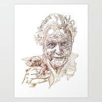 A portrait of David  Art Print