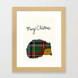 Winter Hedgehog Framed Art Print