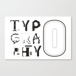 Typ0graphy Canvas Print