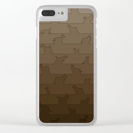 Brown Dog Ombre Clear iPhone Case