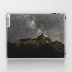 Milky Way Over Mountains - Landscape Photography Laptop & iPad Skin
