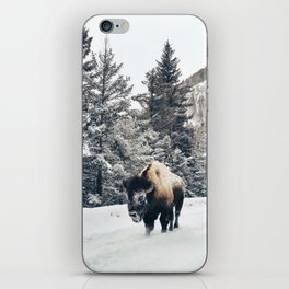 Frosty Bison iPhone Skin