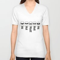 power rangers V-neck T-shirts featuring Power Rangers by Lugge