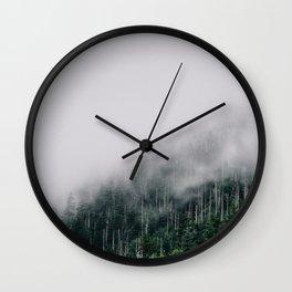 Misty Great Smoky National Park  Wall Clock