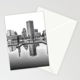 Baltimore Skyline Stationery Cards