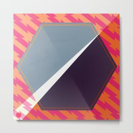 London - color hexagon Metal Print