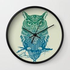 Warrior Owl Wall Clock
