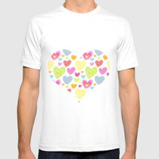spring hearts SMALL White Mens Fitted Tee