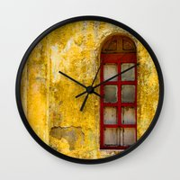 window Wall Clocks featuring window by Alfredo Rodriguez
