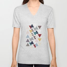 Scatter triangles Unisex V-Neck