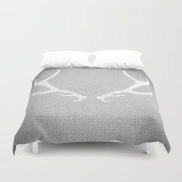 White & Grey Antlers Duvet Cover