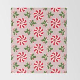 Vintage Peppermint Throw Blanket