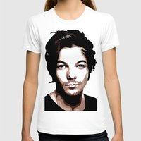 louis tomlinson T-shirts featuring LOUIS TOMLINSON Vector Portrait by LsArtistry