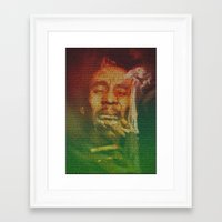 marley Framed Art Prints featuring Marley by Robotic Ewe