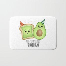 Avo Smashing Birthday - Avocado Toast Bath Mat