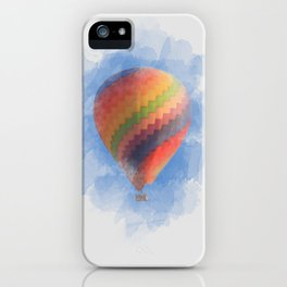 Hot Air Balloon in a blue sky iPhone Case