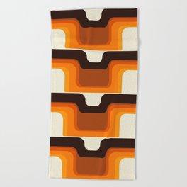 Mid-Century Modern Meets 1970s Orange Beach Towel