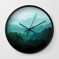 oregon Wall Clocks featuring Mists No. 2 by Prelude Posters