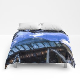 Lloyd's and the Gherkin and Cheese Grater London Comforters