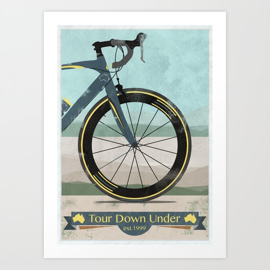 Tour Down Under Bike Race Art Print