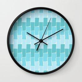 Running Bond - Seafoam Wall Clock