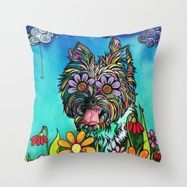 Chorkie Throw Pillow