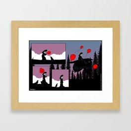 Flying Balloons Framed Art Print