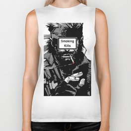 Smoking Kills Biker Tank