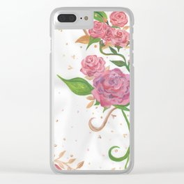 Lovely Roses Clear iPhone Case