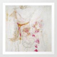 romantic Art Prints featuring romantic by woman