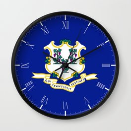 State Flag of Connecticut Wall Clock