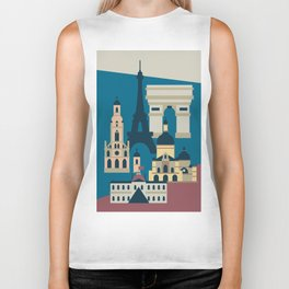 Paris - Cities collection  Biker Tank
