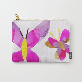 Pink Butterfly Collage, Flutterbye Carry-All Pouch
