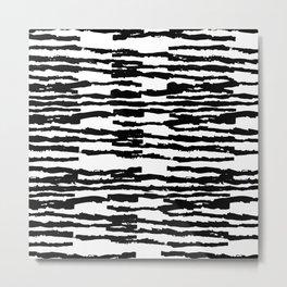 Dashed Stripes Metal Print
